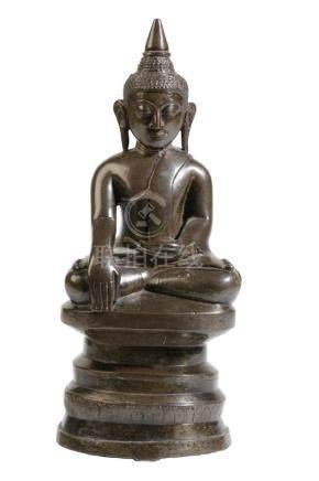 BRONZE SEATED BUDDHA, BURMESE, SHAN STATES, 19TH CENTURY