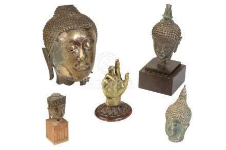 BRONZE HEAD OF AYUTTHAYA, THAILAND, 17TH CENTURY