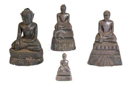 TWO SILVER BUDDHAS, THAILAND, 19TH CENTURY