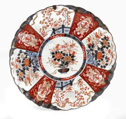 An 18th century Japanese Meiji porcelain plate