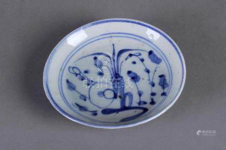 An 18th century Chinese Qing porcelain plate