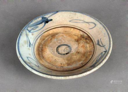 An 18th century Chinese porcelain plate from the Qing Dinast