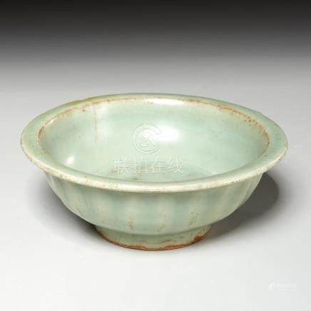 Chinese Song style celadon twin fish bowl