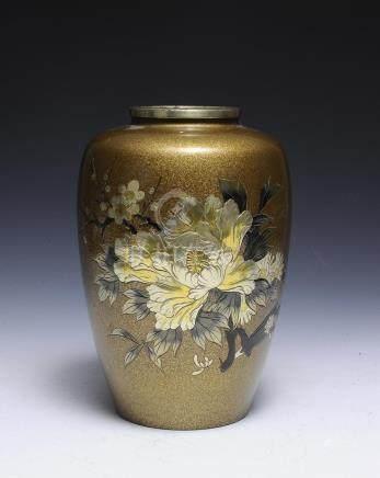 Mixed Metal Vase, Japanese