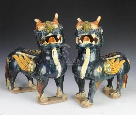 (2) Terracotta Griffins, Modern Chinese