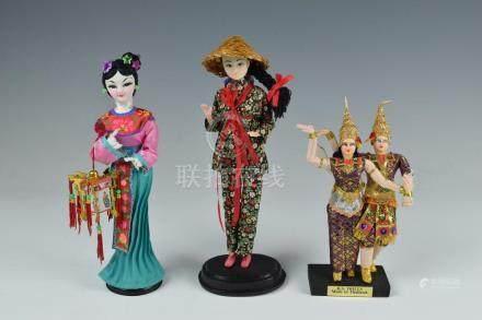 (3) Dolls, Thai & Taiwan