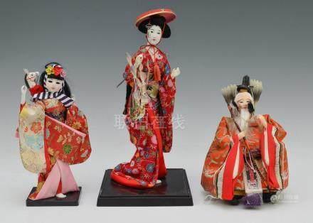 (2) Japanese Dolls & Korean Doll of Emperor