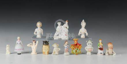 (13) Bisque & China Dolls Figures Nippon Japan
