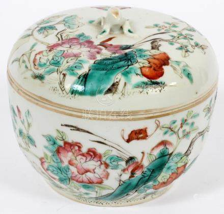 CHINESE PORCELAIN COVERED JAR, C. 1940