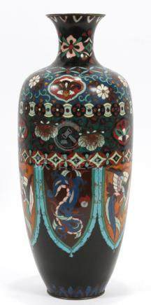 CHINESE CLOISONEE VASE 19TH.C. H 14""