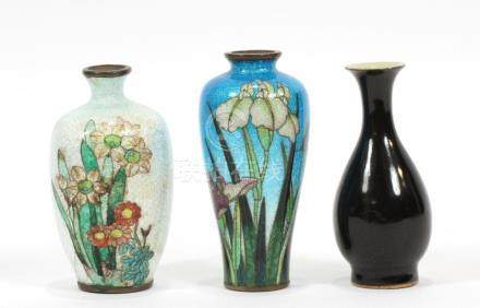 JAPANESE AND CHINESE MINIATURE VASES THREE