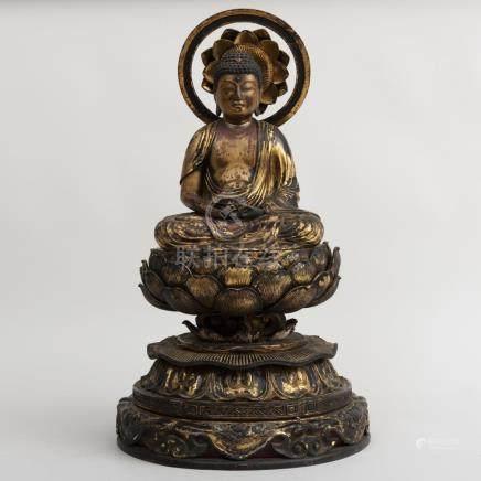 Japanese Carved Giltwood Buddha