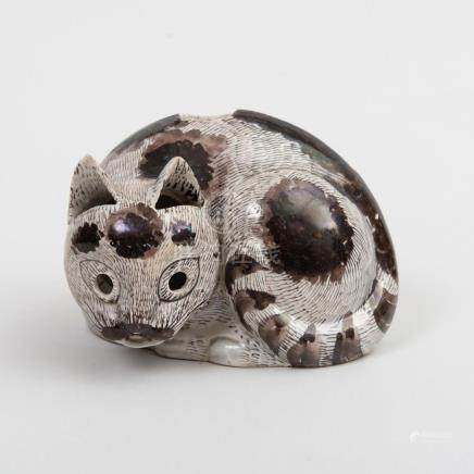 Chinese Kangxi Porcelain Cat Nightlight