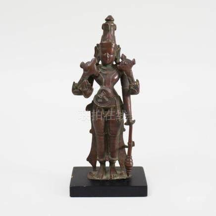 Indian Bronze Model of Vishnu