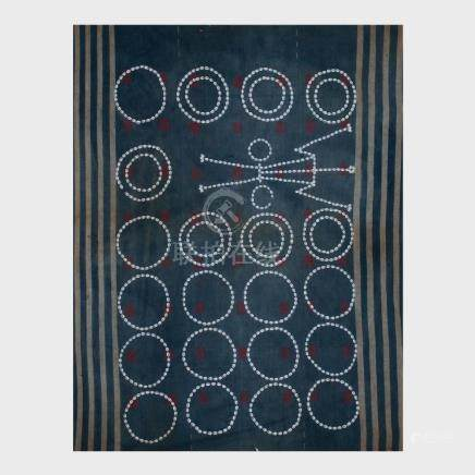 Group of Three Indian Woven Cloth and Cowrie Shell Warrior M