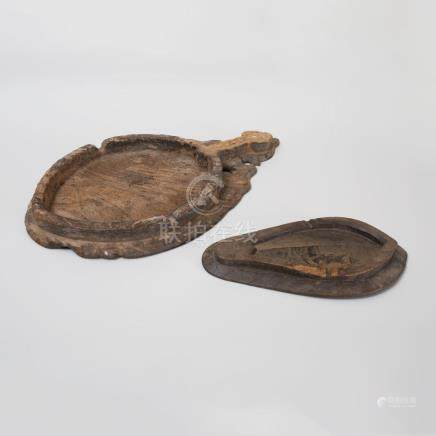 Two Indian Carved Hardwood Platters