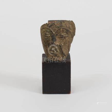Southeast Asian Bronze Mask of Buddha