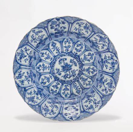 Chinese Kangxi Blue and White Porcelain Charger