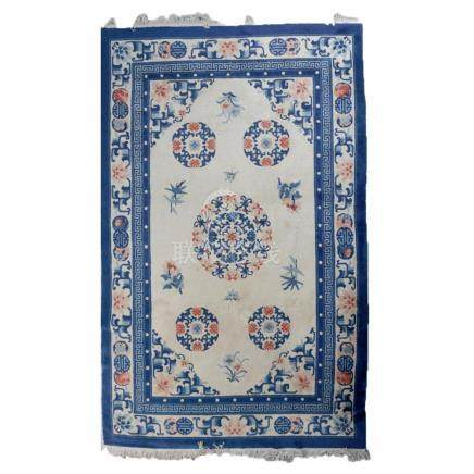 """Hand Knotted Chinese Peking Rug, 108"""" x 73"""""""