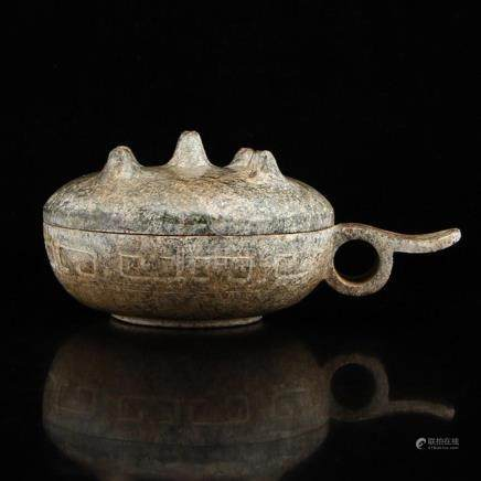 Vintage Chinese Hetian Jade Incense Burner