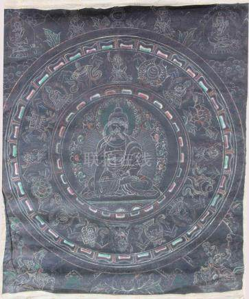 Nag Thang, Buddha, Thangka, China / Tibet old.