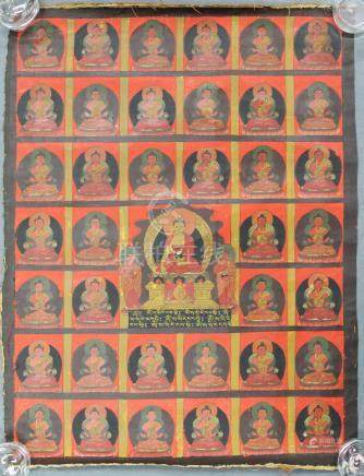 Probably Gautama Buddha Thangka, China / Tibet old.
