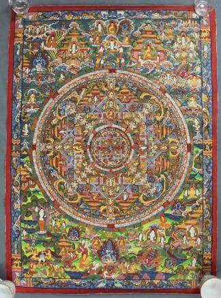 Kalachakra Mandala, China / Tibet old.
