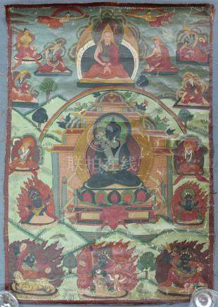 Representation of the Maitreya Buddha ? With green Tare Than