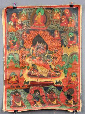 Mahakala Thangka, China / Tibet old. Probably Yama ?