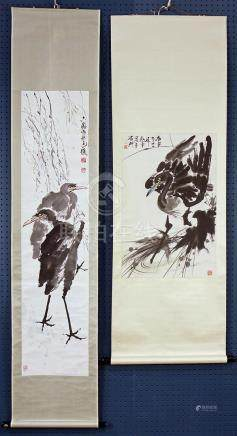 Chinese Scrolls, Herons