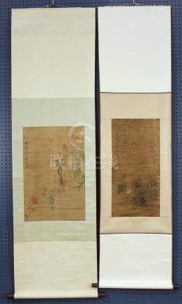 Chinese Scrolls, Manner of Ma Yuanyu/Chen Shu, Birds-and-Flo