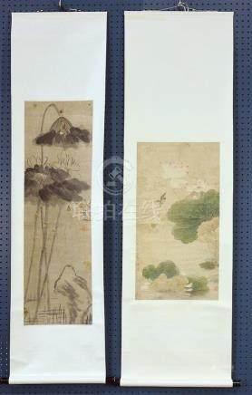Chinese Scrolls, Lotus, Manner of Maquan, Bada Shanren