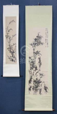 Chinese Scrolls, Manner of Pu Hua, Bosheng, Bamboo