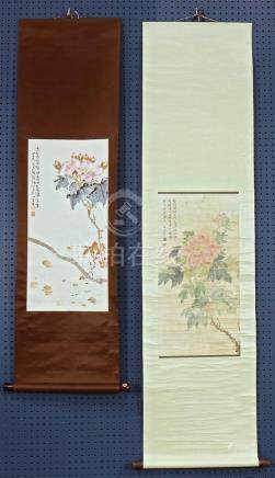 Chinese Scrolls, Manner of Yun Shouping; Lingnan School