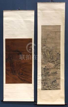 Chinese Scrolls, Manner Guo Xi and Hong Ren