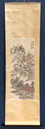 Chinese Scroll, Landscape, Attributed to Wu Zheng