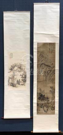 Chinese Scrolls, Landscape, Manner Zhang Naiyan, Gong Xian