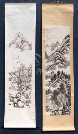 Chinese Scrolls, Landscape, Zhongfang