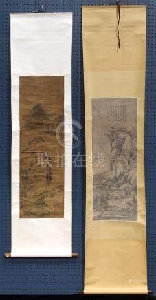 Chinese Scrolls, Landscape, Manner Wen Jia/Wang Hui