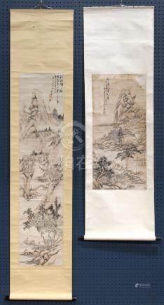 Chinese Scrolls, Landscape, Shi Sheng