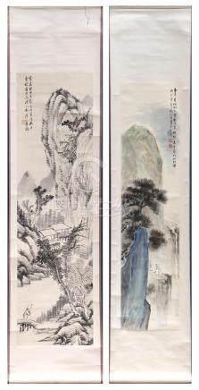 Chinese Scrolls, Landscape, attributed of Liu Shijin, Yaosan