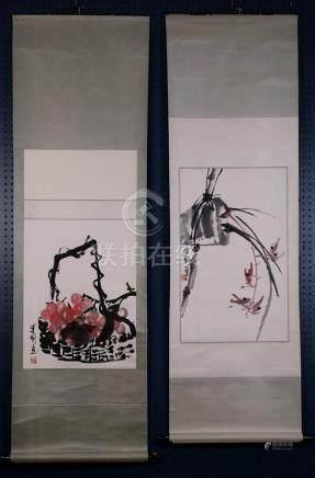Chinese Scrolls, Tao Yunguo, Fruits, Flowers