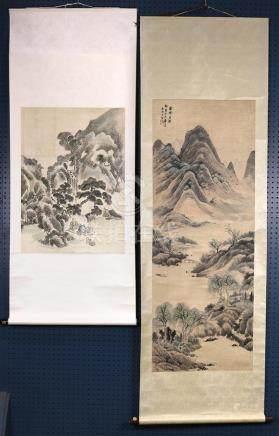 Chinese Scrolls, Landscape, Manner of Li Shizhong