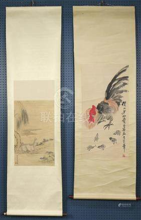 Chinese Scrolls; Manner of Qi Baishi/Lang Shining
