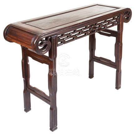 A Chinese Altar Table: Rosewood, Qing dynasty,