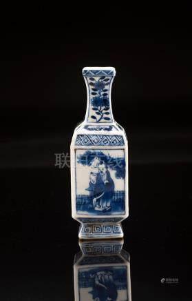 Blue And White Porcelain Figural Vass, Kangxi Mark