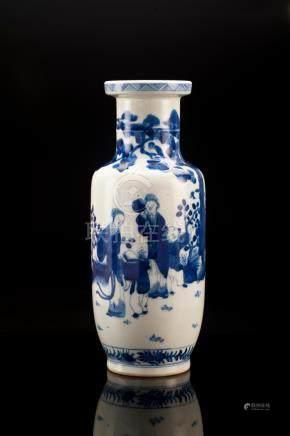 Blue And White Porcelain Figural Vase, Kangxi Mark