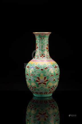 Famille-rose Porcelain Vase, Yongzhe Mark