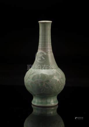 Celadon Glazed Porcelain Lotus Vase