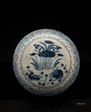 Vintage Blue And White Porcelain Box